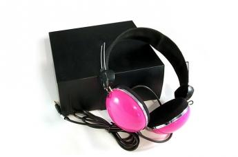 Słuchawki retro - różowe
