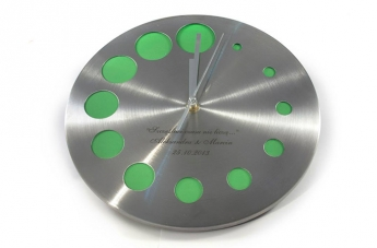 Zegar z grawerem - ślub