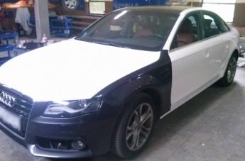 Audi - w trakcie oklejania - 2