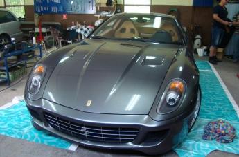 Oklejanie Ferrari 599 - przed oklejeniem - 1