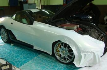 Oklejanie Ferrari 599 - w trakcie - 2