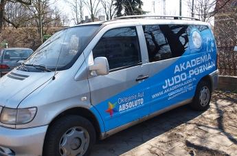 Oklejanie pojazdów - Judo Poznań (bus) - 1