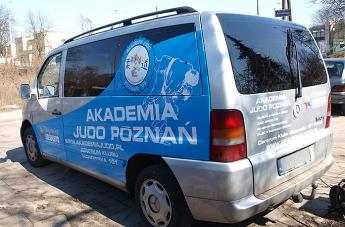 Oklejanie pojazdów - Judo Poznań (bus) - 6