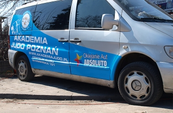 Oklejanie pojazdów - Judo Poznań (bus) - 9