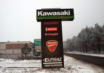 Reklama - Szyld Kawasaki