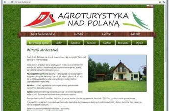 Strona internetowa - Agroturystyka Dom nad polaną