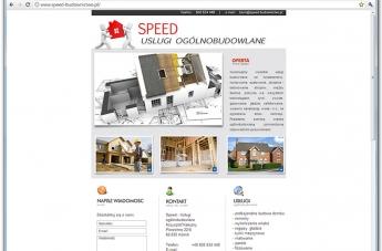 Strona internetowa - Speed Usługi Ogólnobudowlane