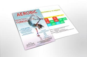 Ulotka reklamowa dwustronna - Aerobic Turkus