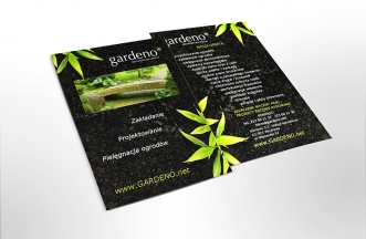 Ulotka reklamowa dwustronna - Gardeno
