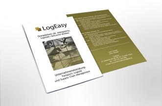 Ulotka reklamowa dwustronna - LogEasy
