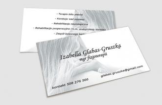 Wizytówki - mgr. Izabella Glabas Gruszka
