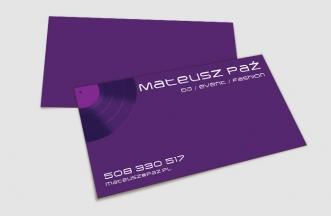 Wizytówki - Mateusza Paź, DJ, event, fashion